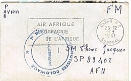 ALGERIE  - PARACHUTISTES - COLONIAUX - DAKAR - 7è REGIMENT - SP 89402 - AIR AFRIQUE -1961 - Guerra De Argelia