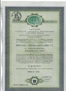 MILANO 1957 SAROM 99 100 OBBLIGAZIONI DA LIRE 1000 CADAUNA CON 26 CEDOLE ANNULLATO PAGATO FORI DOC.274 - Azioni & Titoli