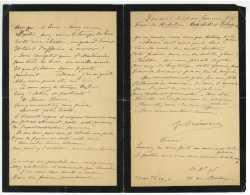 CREMIEU Ou CREMIEUX A Identifier -  Deux Autographes 1896 Et 1897 Paris 14 Rue Montaigne - Historische Dokumente