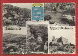 FONTAINE De VAUCLUSE - Multivues - Blason - Dépt 84 -  Photo Véritable - Autres Communes