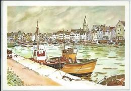 Le Croisic-Aquarelle Originale De Robert Leboucher (Galerie D'Art-Passage Masson-Le Croisic)-(CPM) - Le Croisic