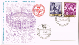20909. Tarjeta Exposicion BARCELONA 1960. Plaza De TOROS Munumental - 1951-60 Cartas