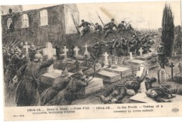MILITARIA -  Dans Le Nord Prise D'un Cimetière Faubourg D'Arras   - Guerre 14 / 18 -  écrite TTB - Guerre 1914-18