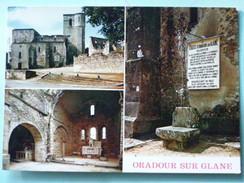 V04-74-A-dep.87-haute Vienne-oradour Sur Glane--cite Martyre 10juin 1944--eglise-- - Oradour Sur Glane