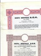 Società Industriale A.G.K. Prestito Obbligazionario Lotto 2  DOC.277 - Azioni & Titoli