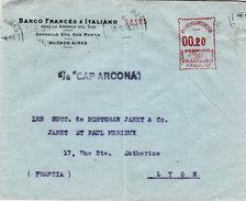 """ARGENTINE - EMA 00.20 PERMISO 10 FRANQUEO PAGADO- S/S""""CAP ARCONA""""-  29.9.1938 BUENOS AIRES - BANCO FRANCES E ITALIANO - Argentinien"""