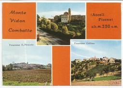 ASCOLI PICENO (047) - MONTE VIDON COMBATTE (vedute S.Procolo E Collina) - FG/Vg 1979 (spedita, Con Firma, Dal Parroco) - Ascoli Piceno