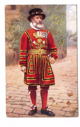 Illustration Illustrateur Tuck Raphael Oilette Yeomen Guard Soldat Militaire N°9221 Cachet Taxe - Tuck, Raphael