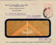 ARGENTINE - EMA 00.30- S/S CONTE GRANDE CON ALCANCE -  1936  BUENOS AIRES POUR FRANCIA - BANCO FRANCES E ITALIANO - Argentina
