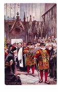 Illustration Illustrateur Tuck Raphael Oilette Yeomen Of The Guard Soldat Militaire N°9221 Westminster Garde Royale - Tuck, Raphael
