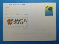 1997 ITALIA CARTOLINA POSTALE NUOVA NEW MNH** - UNIONE FILATELICA SICILIANA PALERMO EXPOFIL 97 - - Interi Postali