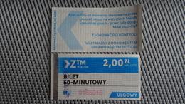Bus Ticket From Rzeszow 2zl 60 Minutes Ride Poland - Fahrkarte - Transportation