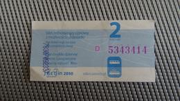 Bus Ticket From Szczecin 2zl Poland - Fahrkarte - Transportation