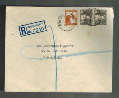 1947 Jerusalem Palestine Cover To Haifa Mahne Yehuda Branch Cancel - Palestine