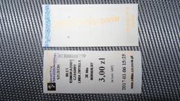 Bus Ticket From Szczecin 3zl Poland - Fahrkarte - Transportation