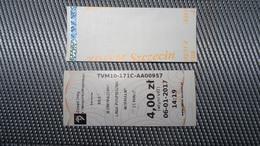 Bus Ticket From Szczecin 4zl Poland - Fahrkarte - Transportation