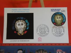 France > FDC > 1990-1999 > Le Christ De Wissembourg - 67 Wissembourg - 22.9.1990 - 1er Jour. Coté 4 € - FDC
