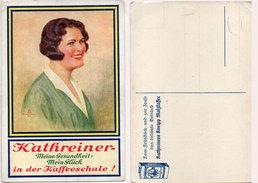 KATHREINER - Meine Gesundheit-Mein Glück In Der Kaffeeschale - Illustration Femme   (94419) - Publicité