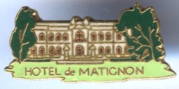 Pin´s EGF HOTEL De MATIGNON - 7e Arrondissement De Paris - Città