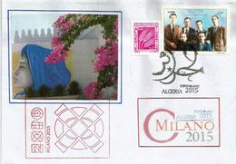 ALGERIE. EXPO UNIVERSELLE MILANO 2015. Lettre Du Pavillon ALGERIE Avec Timbres Algériens + Tampons Officiels Du Pavillon - 2015 – Milan (Italy)