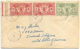 1915 NOUVELLES HEBRIDES LETTRE POUR LES USA AFFRANCHIE A 2 1/2 D OBLITERES PORT-VILA 12 JUIN 15 - Brieven En Documenten