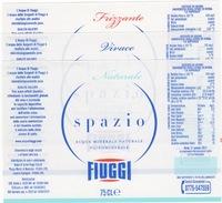 Etichetta Acqua Minerale FIUGGI 3 Diverse FRIZZANTE-Naturale-VIVACE (Spazio) - Other