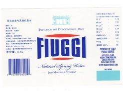 Etichetta Acqua Minerale FIUGGI In Lingua Cinese Da 1/2 Litro NATURALE - Other