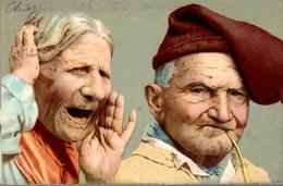 Coppia - Cartolina Viaggiata - Ann. Tondo-riquadrato Chioggia 1903  (Vedi 2 Foto) - Humor