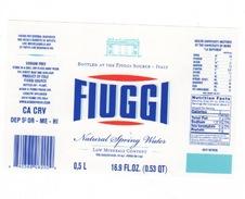 Etichetta Acqua Minerale FIUGGI In Lingua Cinese Da 1/2 Litro NATURALE 16.9 Fl.Oz. - Other