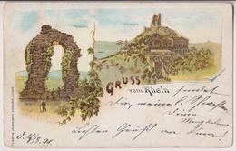 GRUSS VOM RHEIN : ROLANDSCEK - DRACHENFELS - ECRITE EN 1899 - *2 SCANS* - - Andere