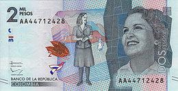 Colombie 2000 Pesos  2016 Nouveau Design  UNC - Colombie