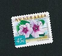N°  1740C Fleurs Ipomoea Pes-caprae  Australie 1999 Oblitéré 45c Australia - 1990-99 Elizabeth II