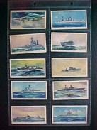 10 Cartes CHROMOS CIGARETTES PLAYER , 1939, BATEAUX GUERRE , Modern Naval Craft ; Original LOT OF 10 CARDS - Player's