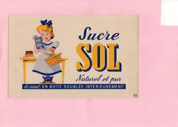 BUVARD - Sucre SOL - Sucreries & Gâteaux