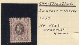 WP273 Christianssund Kristiansund Seaport Local Stamp Norway Norwegen Norge 1879 - Noorwegen