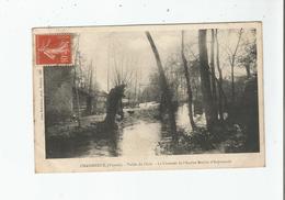 CHASSENEUIL (VIENNE)  896 VALLEE DU CLAIN LA CHAUSSEE DE L'ANCIEN MOULIN D'ANJOUMARD 1907 - Autres Communes