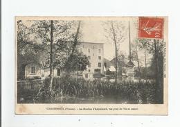 CHASSENEUIL (VIENNE) 886  LES MOULINS D'ANJOUMARD VUE PRISE DE L'ILE EN AMONT 1907 - Autres Communes