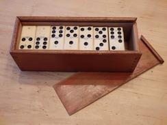 Dominospel : Ivoor En Ebbenhout , Compleet + Doos Circa 1900 - Toy Memorabilia