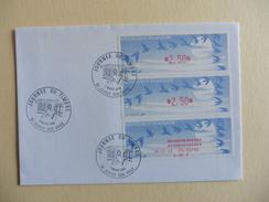 France : Lettres Avec  3 Timbres Lisa Oblitération Manuelle Journée Du Timbre Juvisy 7 Mars 1992 - Manual Postmarks