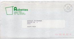 """Cachet Manuel Du 23-10-1985-Cachet Manuel VALENCAY-36--Mention PP Sur Lettre Pers.""""AUBETTES-Luçay Le Mâle-36"""" - Marcophilie (Lettres)"""
