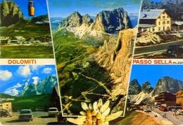 Dolomiti - Passo Sella - Trento - 4127 - Formato Grande Viaggiata - E - Trento