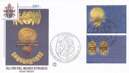Vatikan, 2001, Mi:1386 +1387 Etruskisches Museum - Vatican