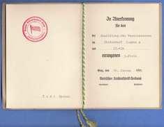 STEIRISCHER LEICHTATHLETIK VERBAND 1952 - Annerkennung Für Den Vereinsbesten Diskuswurf Jugend A Errungen 3.Platz ... - Historische Dokumente