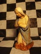 Santon De Crèche Ancien Devineau : Vierge Marie Taille 4 / 8,5cm - Santons