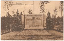 Rotselaar / Rotselaer - Gedenksteen Der Gesneuvelden Van 12-9-1914 - Uitgave J. Van De Cauter-Smedts - Rotselaar