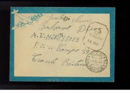 1944 Italy Prisoner Of War POW Cover To England Camp 39 - Italy