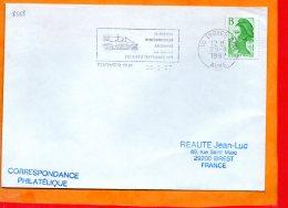"""AUBE, Troyes, Flamme SCOTEM N° 8568, """"48 Heures D'automobiles Anciennes 5 Et 6 Septembre 1987"""" - Marcophilie (Lettres)"""