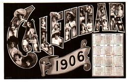 Année Date Millesime - 1906 - Calendrier Calendar Femmes Dans Les Lettres, Rotary - Año Nuevo
