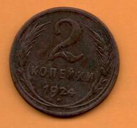 RUSIA - RUSSIA - 2 KOPEK 1924 - Rusia