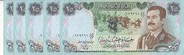 IRAQ 25 DINARS 1986 P-73 SADDAM SWISS PRINT HIGH QUALITY  AU-UNC LOT X5 NOTES - Iraq